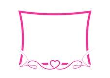 rosa valentin för kant Royaltyfria Bilder