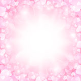 Rosa valentinbakgrund Arkivbild