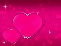 Rosa valentinhjärtabakgrund royaltyfri foto