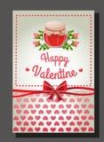 Rosa valentinkrus Royaltyfri Foto