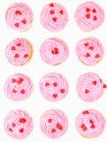 Rosa Vanille-kleine Kuchen III Lizenzfreies Stockbild