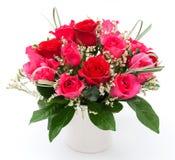 Rosa in vaso Fotografie Stock