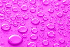 Rosa vattendroppar royaltyfria bilder