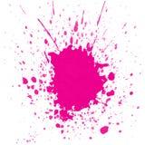 Rosa vattenfärgfärgstänk royaltyfri foto
