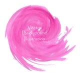 Rosa vattenfärgfärgstänk Arkivfoton