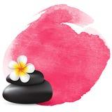 Rosa vattenfärgfläck vektor illustrationer
