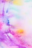 Rosa vattenfärgmålningbakgrund Royaltyfri Bild