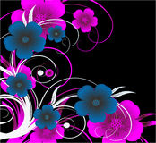rosa vektor för blomma royaltyfri illustrationer