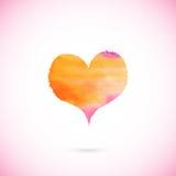 Rosa vektor målad hjärta Royaltyfri Bild