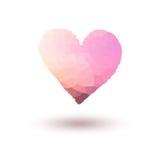 Rosa vektor målad hjärta på lutningbakgrund Royaltyfria Foton