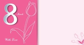 Rosa vektorabbildung Glücklicher Frauen ` s Tag Modischer Mutter ` s Tag stock abbildung