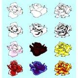 Rosa vektoruppsättning Arkivfoto