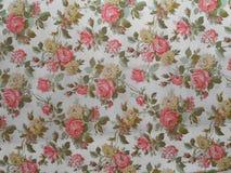 A rosa velha decorou o papel de parede imagem de stock