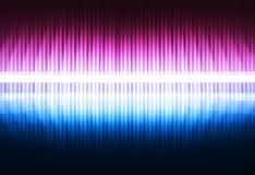 Rosa vertical y fondo púrpura del ejemplo del equalizador de los bloques libre illustration