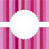 Rosa Vertikale abgestreifte Jeanskarte Stockfotos