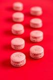 rosa viewable för bildmacarons nr arkivbild