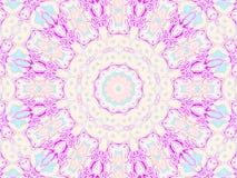 Rosa violetblått för sömlös rund prydnad Royaltyfri Bild
