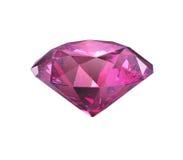 Rosa violett isolerat diamantsnitt stock illustrationer