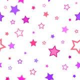 Rosa violett sömlöst för abstrakta stjärnor för bakgrundsmodelltextur stock illustrationer