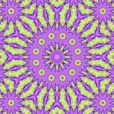 Rosa violettes ausgebreitetes fähiges kaleidoskopisches Muster der Fractalfliese in den Pastellfarben stock abbildung