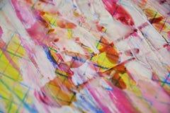 Rosa vit målarfärg, vitt vax, abstrakt bakgrund för vattenfärg Royaltyfri Bild