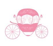 Rosa Wagen Prinzessin Cinderella Fairytale Auch im corel abgehobenen Betrag stock abbildung
