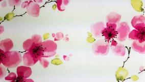 rosa wallpaper för blommor Arkivfoton