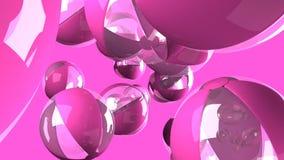 Rosa Wasserbälle auf rosa Hintergrund