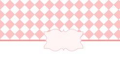 Rosa weißer Valentine Card Lizenzfreie Stockfotos