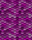 Rosa wiederholendes spielerisches Meerjungfrau-Fischschuppe-Muster Lizenzfreies Stockbild