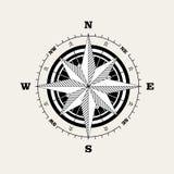 Rosa windrose för kompass stock illustrationer
