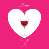 rosa wine för meny Arkivfoton