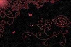 Rosa wirbelt auf dunklen Hintergrund Stockfotografie