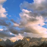 Rosa Wolken Stockfotografie