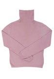 Rosa woolen rulle-hals tröja royaltyfria foton