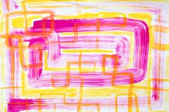 Rosa y amarillo Art Painting abstracto Imagenes de archivo