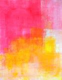 Rosa y amarillo Art Painting abstracto Ilustración del Vector