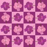 Rosa y estampado de plores inconsútil carmesí Textura inconsútil del vector Foto de archivo libre de regalías