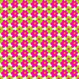 Rosa y flores verdes en un ejemplo inconsútil del modelo del fondo ligero libre illustration