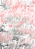 Rosa y fondo vertical de la acuarela gris Contexto de la acuarela del drenaje de la mano con la pintura y agua que fluyen Efecto  imagen de archivo libre de regalías