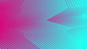 Rosa y líneas refractadas curvadas abstractas azules animación video