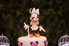 Rosa y oro de Minnie a adornar Imagen de archivo libre de regalías