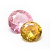 rosa yellow för gemstones royaltyfria bilder