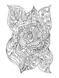 Rosa zentangle Royaltyfria Foton