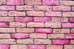 Rosa Ziegelsteine, Beschaffenheit, Hintergrund für Design, horizontal Lizenzfreies Stockbild