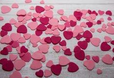 Rosa Zuckerpasten-Herzhintergrund Stockbild