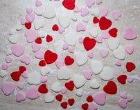 Rosa Zuckerpasten-Herzhintergrund Lizenzfreie Stockfotos