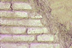 Rosa Zusammenfassung schädigende Backsteinmauer Stockbilder
