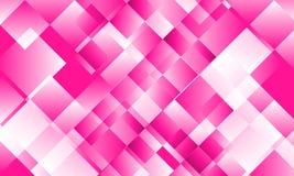 Rosa Zusammenfassungsplastikhintergrund voll von den Quadraten lizenzfreie abbildung