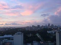 Rosaaktig himmel Arkivfoto